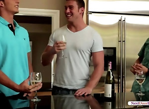 fucking,gay,kitchen,threesome Hot guys fuck...