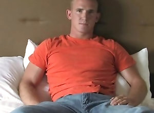 Gay,Gay Muscled,Gay Masturbation Solo,gay,muscled,tattoo,smooth,solo masturbation,young men,bed James - Solo