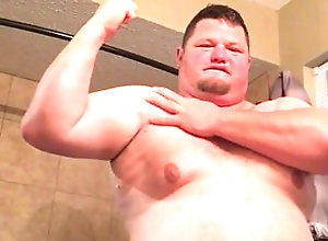 chubby-bear;chub;bathroom;tummy;belly,Solo Male;Gay;Bear;Chubby Chub strutting