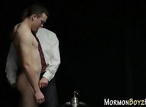 toy,uniform Gay mormon sits...