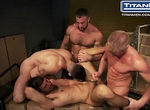 titanmen;titanman;titanporn;bigdick;huge-dick;muscles;daddies;anal-sex;ass-fucking;jocks;blowjobs;group;tattoo;uniforms,Muscle;Pornstar;Group;Gay,Christopher Daniels;Dario Beck;Spencer Reed;Trenton Ducati Surveillance:...