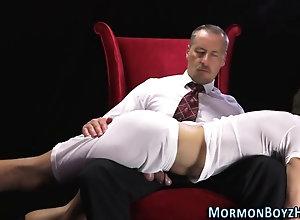 cumshot,handjob,spanking Uniform bishop...
