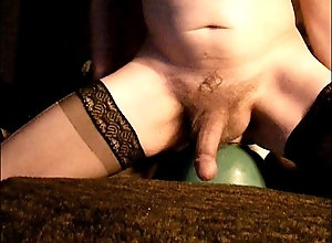 anal,stockings,dildo,masturbation,solo,gay,gay Riding My Anal Dildo