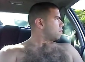 car;public;outdoors;hairy;solo;public-masturbation,Solo Male;Gay;Amateur Hairy dude beats...