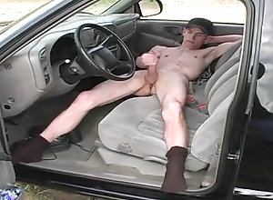 car;jerk;chain;naked-in-car,Big Dick;Gay;Public Dude Jerks in Car
