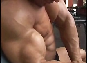muscle-worship;bodybuilder;muscle;pecs;pec-bounce;biceps,Muscle;Gay;Hunks Sagi training and...