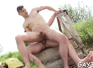 blowjob,hardcore,public,gay sex ends with...
