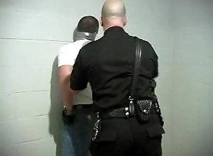 prisoner-bondage;duct-tape-bondage;leather-jacket;tape-gagged-bondage;man-tape-gagged;man-tied-up,Fetish;Gay Tape gagged by cop