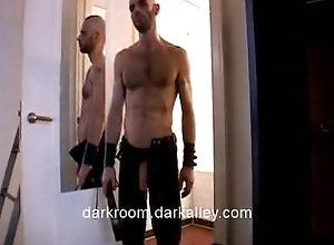 darkroom;leather;big-dick;fantasy-room;bondage;bdsm;caged,Bareback;Big Dick;Gay Into the Fantasy...