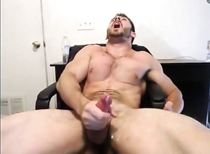 cum;cumshot;muscle;hairy;handsome,Muscle;Solo Male;Gay Hairy muscle...