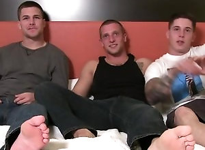 Gay,Gay Threesome,Gay Muscled,brunette,smooth,blowjob,gay,threesome,muscled,gay porn,young men,bed James, Niko &...