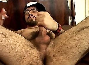 Gay,spanky,solo,hairy,masturbation,smoking,average dick,american,men,bearded,gay Jerking His...