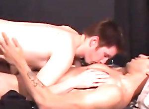 Gay,gay,kissing nipples,blowjob,tattoo,gay porn,young men,bedroom Luke Daniels and...
