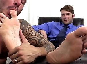 Gay,Gay Feet/Foot Fetish,johnny hazzard,colby keller,worship,gay,tattoo,feet/foot fetish,men,gay porn Colby Keller and...