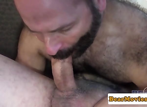 blowjob,facial,tattoo Bearded bear...