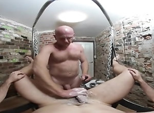 shave;shaving-balls;happy-ending;sling;vr-360-degree;vr-videos;dick-savvy;naked-barber;manscaping;pov,Gay;Reality;Virtual Reality THE NAKED BARBER...