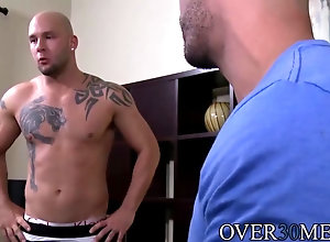 blowjob Hot bald guy with...