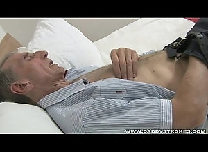 mature,solo,jerking,gay,older,daddy,grandaddy,Gay Grandaddy Jerks Off