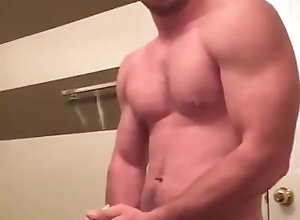 hunk;stud;muscle;college;cumshot;messy,Muscle;Solo Male;Gay Hunk tries to...