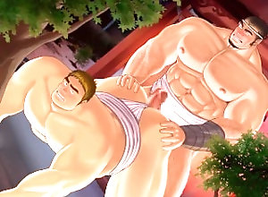 bara;yaoi;bear;cock;cum;muscle;big;anal;ass;hairy;furry;fucking;fuck;grinding;rub,Bareback;Gay;Bear;Cartoon Moritake #7 Grinding