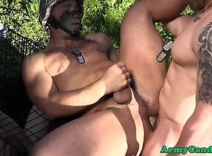 blowjob,outdoors Basic training...