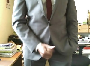 uk;brittish;suit;strip;talk;uncut;tutorial;masturbation;cumshot,Daddy;Solo Male;Gay suit yourself