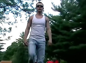 Gay,Gay Outdoor,Gay Amateur,gage winchester,amateur,tattoo,masturbation,large dick,short hair,young men,cum jerking off,american,outdoor,gay Hung Gage Is Back...
