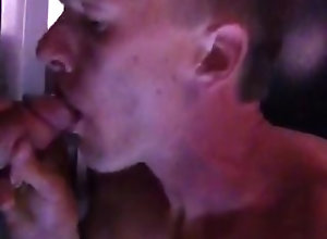 slave;sucking-cock,Blowjob;Gay;Public My slave sucking...