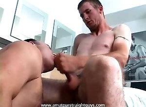 straight;str8;blowjob;cum;cumshot;facial;worship;cock-worship,Gay;Hunks;Straight Guys Eat Two Jocks