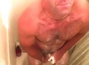 cumshot-compilation;shower;gay,Daddy;Solo Male;Gay Stroking in the...